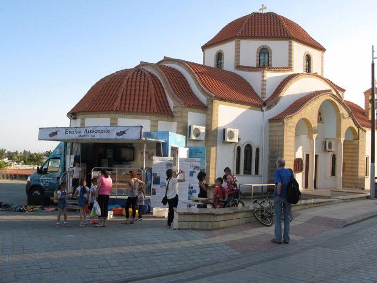 Bus_outside_Mazotos_church